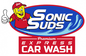Sonic Suds Express Car Wash Logo, full service car wash, car wash service, Greenville, South Carolina